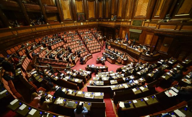 Italy to vote on slashing the number of seats in its parliament
