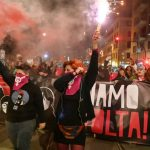 Tens of thousands march in Rome to protest murder of women