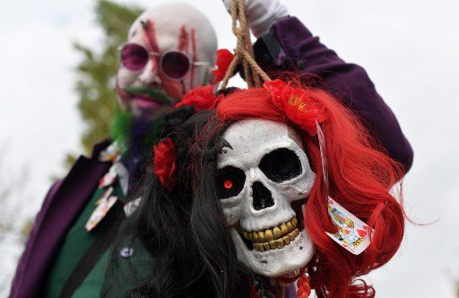 IN PHOTOS: Cosplayers take to the streets at Halloween for Lucca's Comics festival