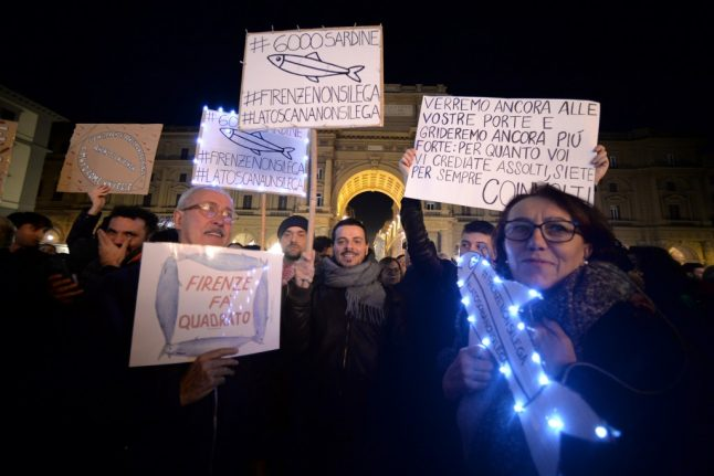 Tens of thousands of Italians march in 'Sardine Movement' against far-right