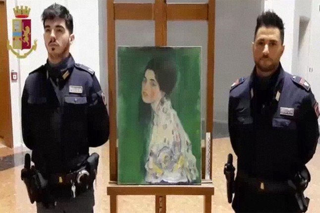 Painting found in bin bag outside Italian museum could be missing Klimt