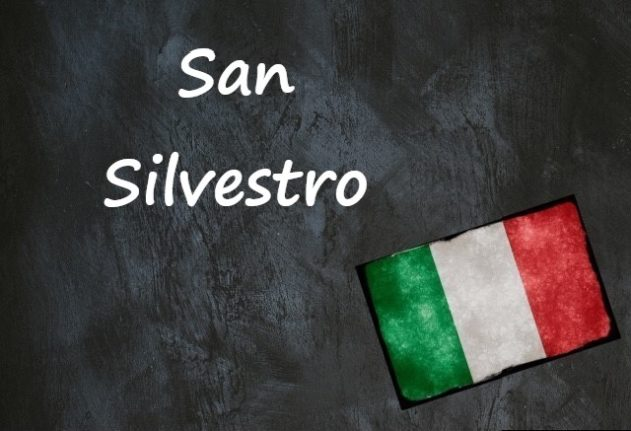Italian expression of the day: 'San Silvestro'