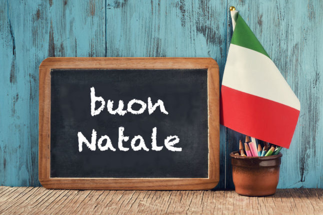 Italian expression of the day: 'Buon Natale'