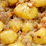 Italian recipe of the week: Creamy gnocchi with cheese, sausage and walnuts
