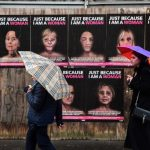 Milan artist shows beaten faces of famous women for street art campaign