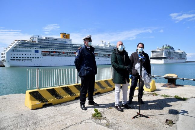 Coronavirus: Fears on cruise ship docked at Italian port after case confirmed
