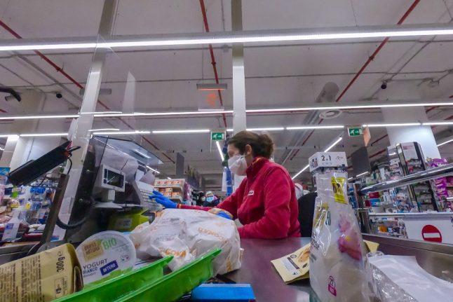 'We're stressed out': Supermarket workers in Italy fear exposure to coronavirus
