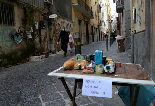 Italy's 'new poor': The people left struggling to eat in the coronavirus crisis
