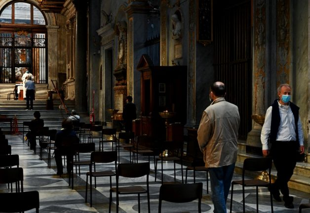 Italy's churches to reopen for mass from May 18th