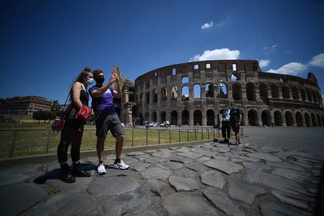 IN PHOTOS: Rome's Colosseum reopens to visitors after three-month shutdown