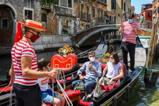 IN PHOTOS: First tourists return to Venice as Italy welcomes back EU travellers