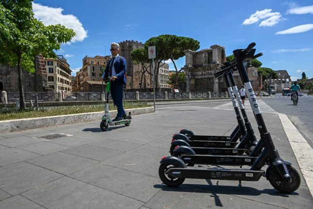 'A small revolution for our city': Electric scooters come to Rome