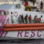 Italian coastguard comes to aid of Banksy-funded rescue boat