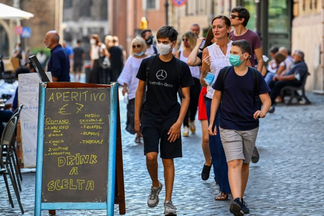 Italy set to make face masks obligatory outdoors at all times