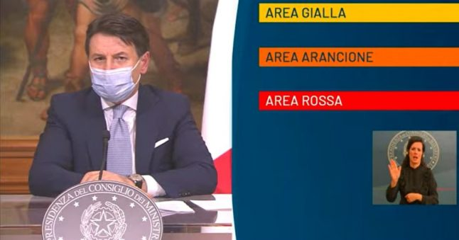 UPDATE: Italy announces regions under red and orange zone restrictions