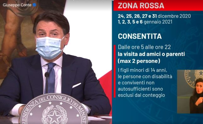Italy confirms 'red zone' lockdown over Christmas and New Year