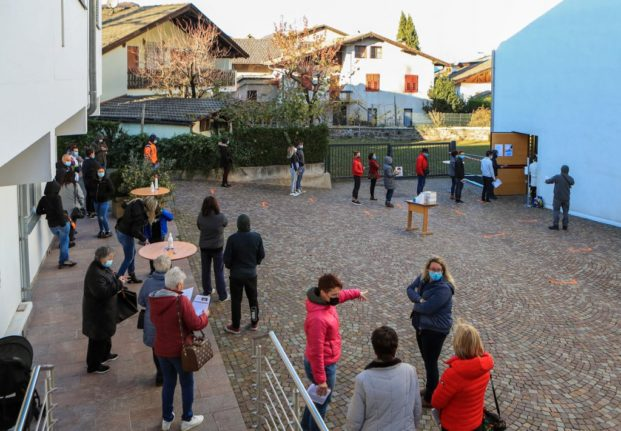 Italy's Covid-19 zone restrictions updated as Alto Adige goes into lockdown