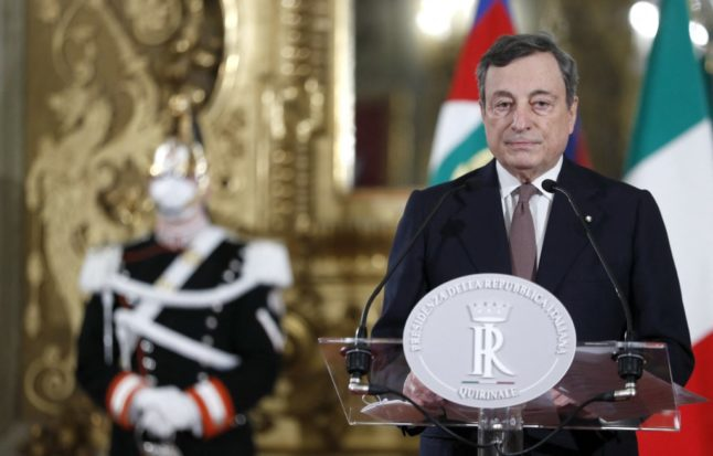 Mario Draghi formally takes helm of Italian government