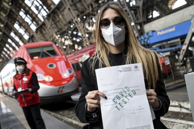 Italy to introduce new Covid 'pass' for travel in high-risk zones