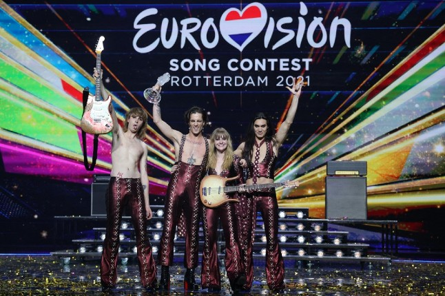 Italy wins Eurovision: 'We just want to say to the whole world, rock'n'roll never dies!'
