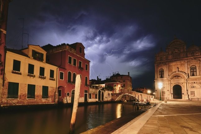 UPDATE: Italy issues orange and red alert as high temperatures and storms are forecast this weekend