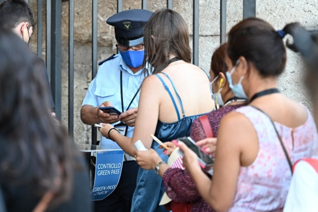 Italy issues first fines for breaking 'green pass' rules