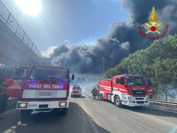 Italy's fire service tackles over 800 wildfires in 24 hours as temperatures soar