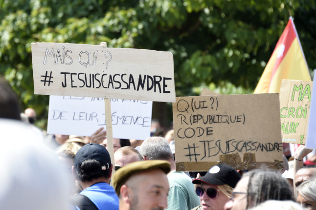 French teacher convicted of anti-Semitism over vaccine protest sign