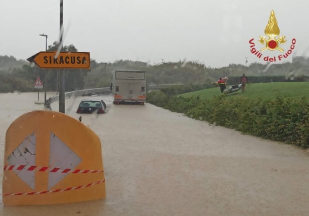 Storms in Italy: Two dead in flooding as Sicily still on alert