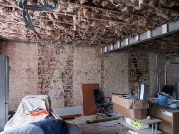 A property undergoing renovation works.